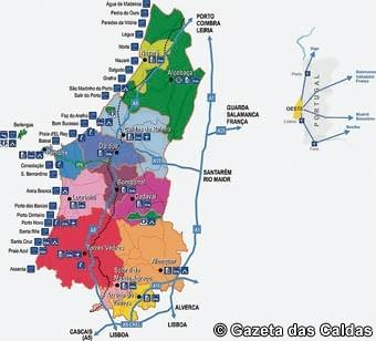 linha do oeste mapa Turismo do Oeste ignora a Linha do Oeste   Gazeta Das Caldas linha do oeste mapa